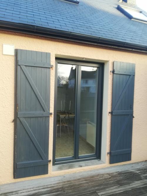 Changement porte-fenêtre en fibre - Ploemeur