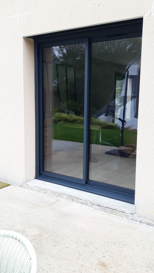 Fenêtre et porte-fenêtre alu - ouverte à la française - Caudan