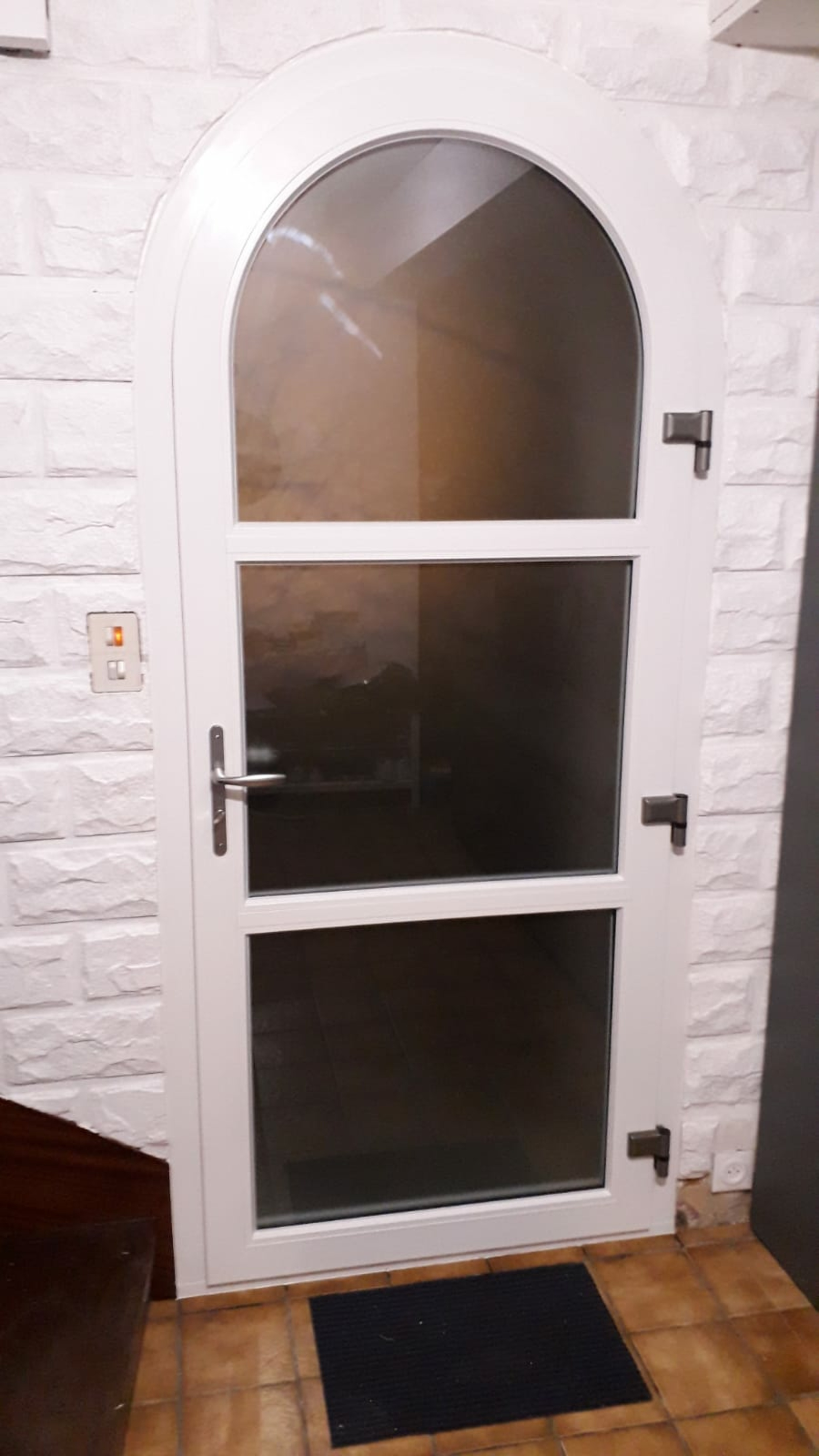 Porte d''entrée PVC Plein cintre - Quéven - 56