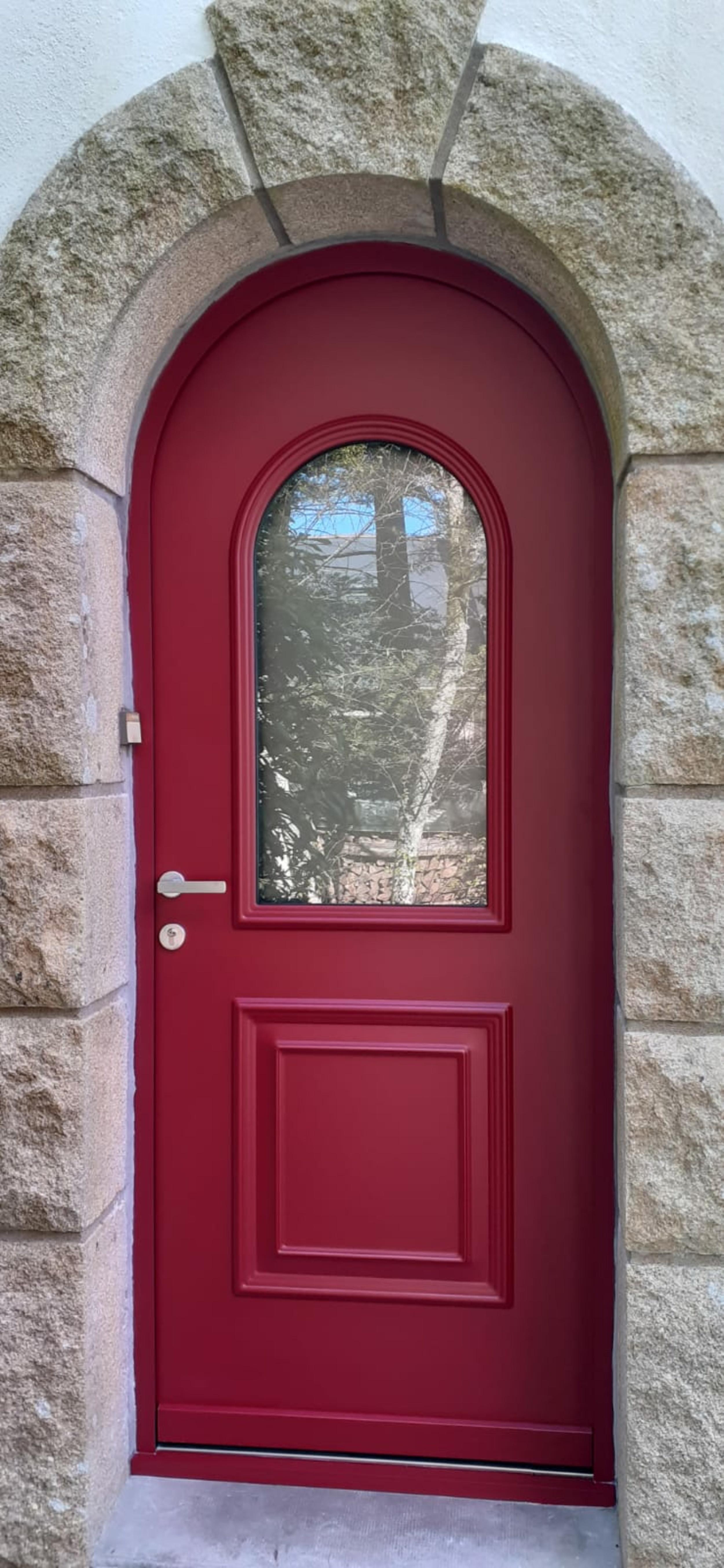 Porte d''une porte d''entrée Monalu avec contre dormant cintrée - Caudan