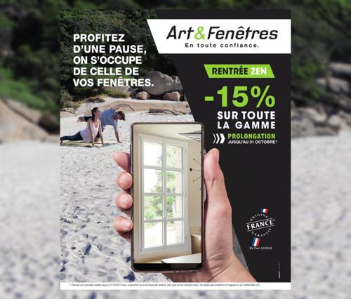 Rentrée zen chez Art & Fenêtres - Prolongation au 31/10/2021
