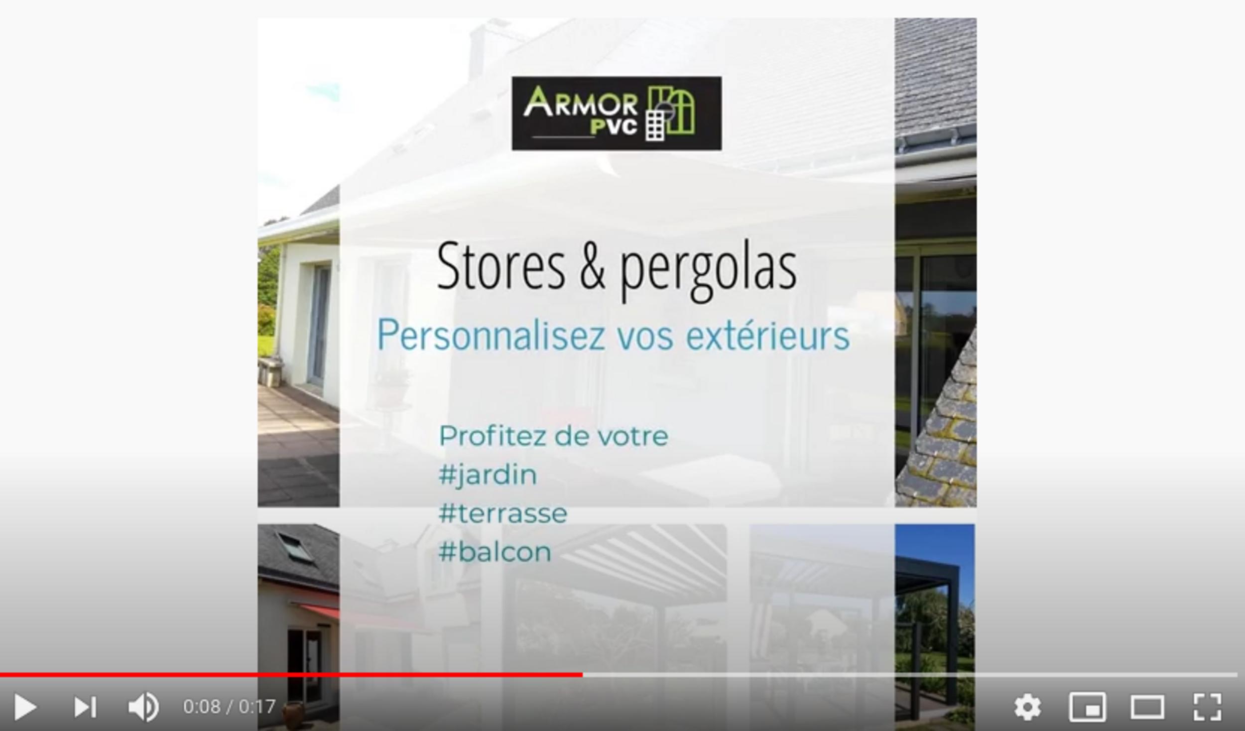 Stores et pergolas pour terrasses, balcons, baies et fenêtres