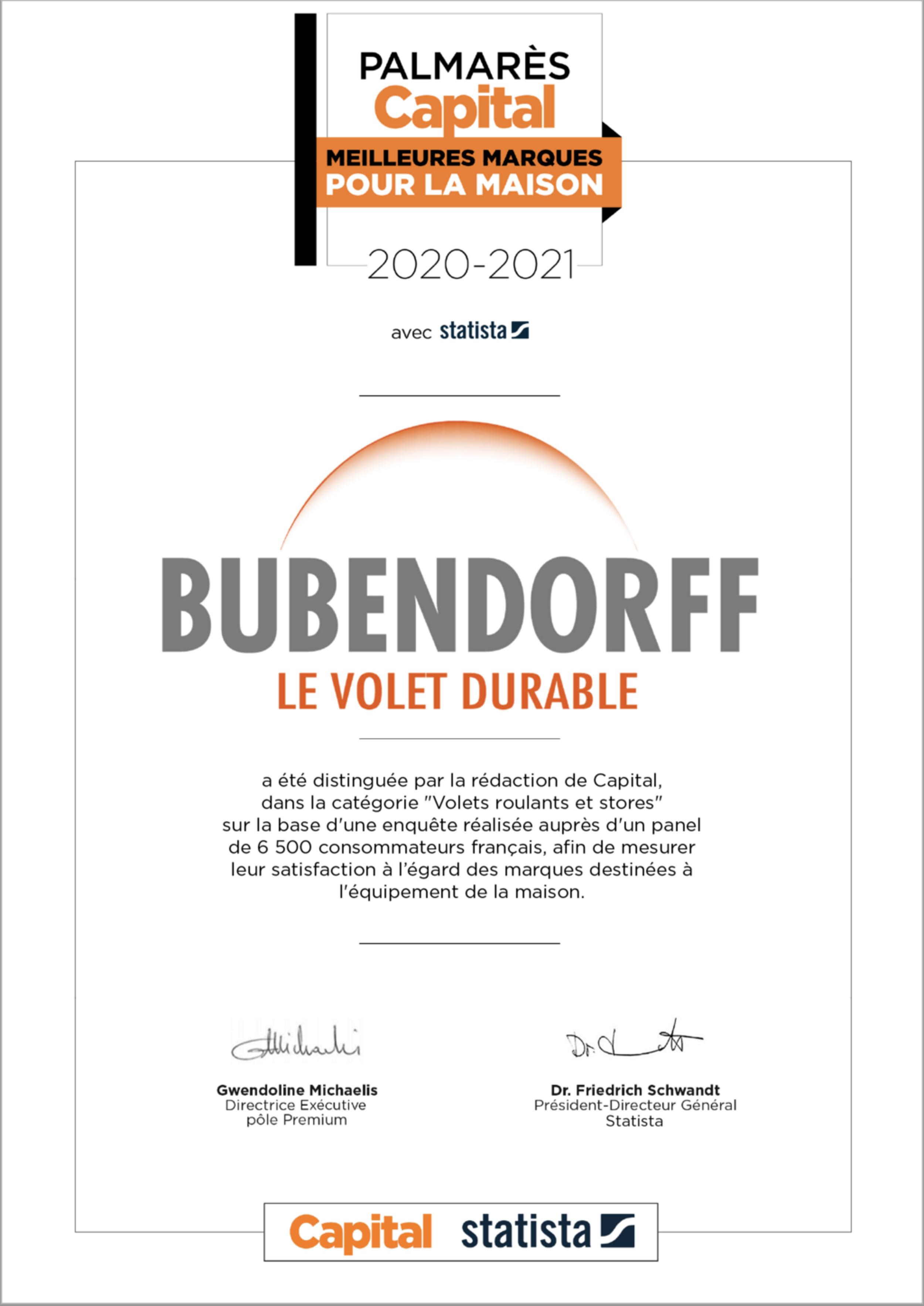 Volets Bubendorff : le volet durable