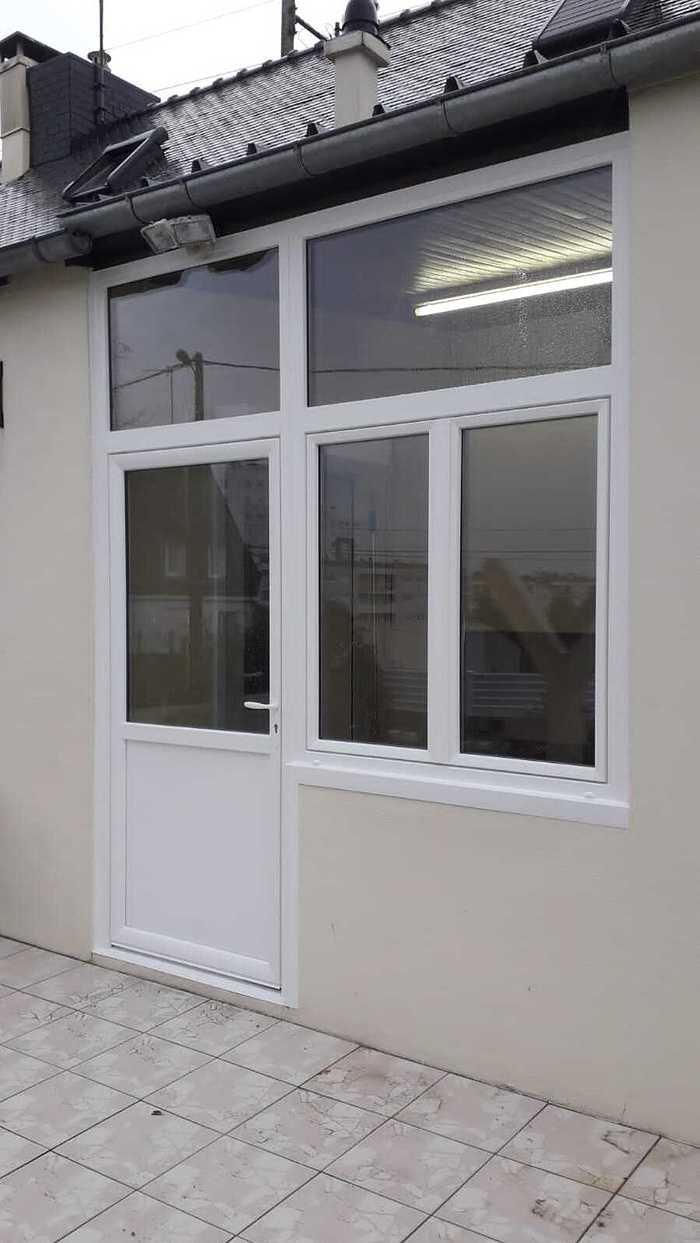 Pose porte d''entrée, impostes et fenêtres - PVC Blanc 0