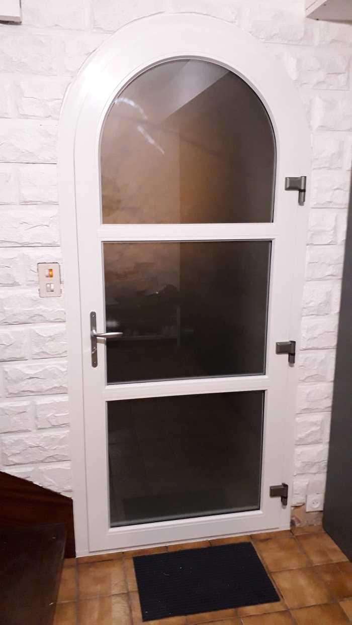 Porte d''entrée PVC Plein cintre - Quéven - 56 0