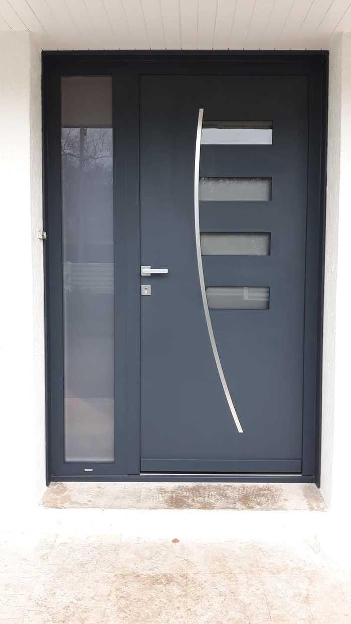 Porte d''entrée 2 vantaux en alu - Guidel 0