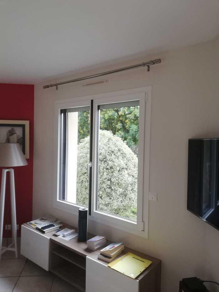 Rénovation fenêtre fibre avec insert déco noir 0