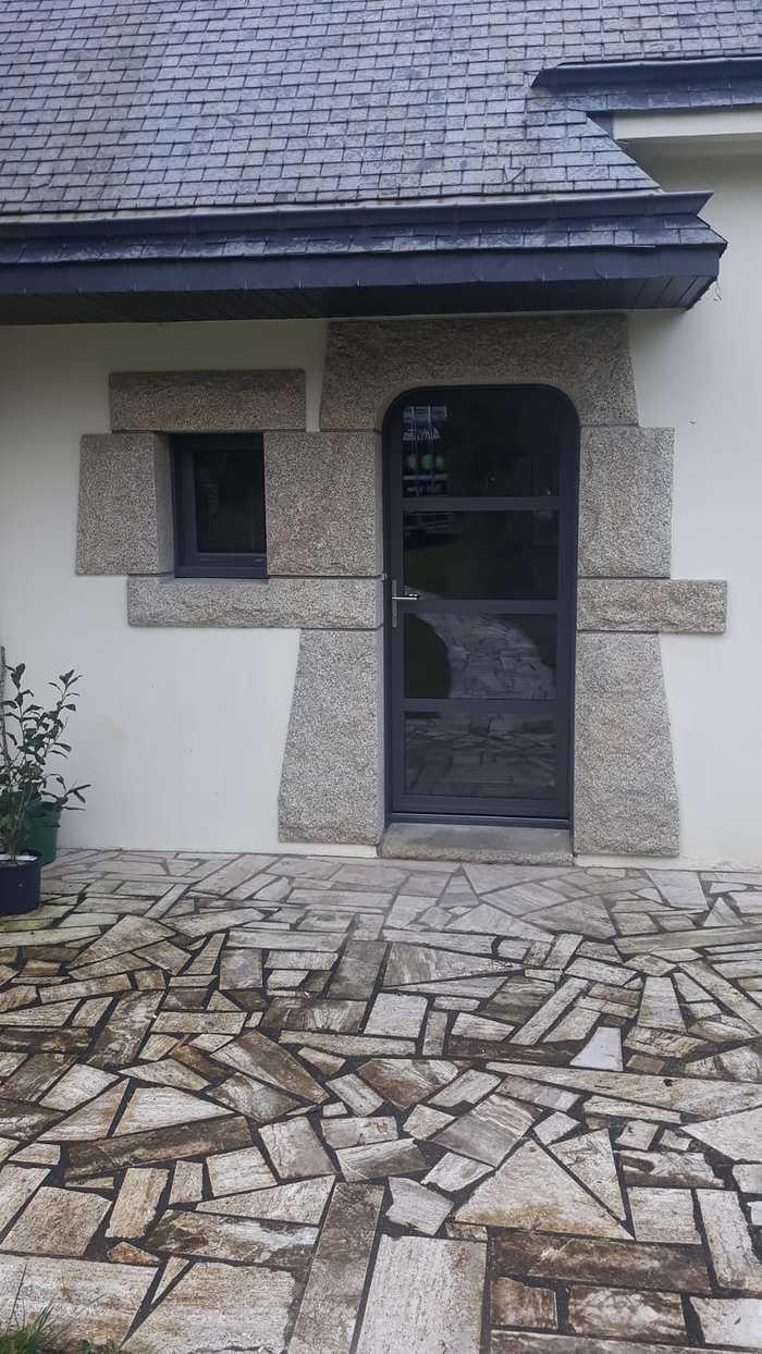 Rénovation porte entrée et menuiseries alu - Locmiquélic portedentreevitreealugris2900sableposealocmiquelic