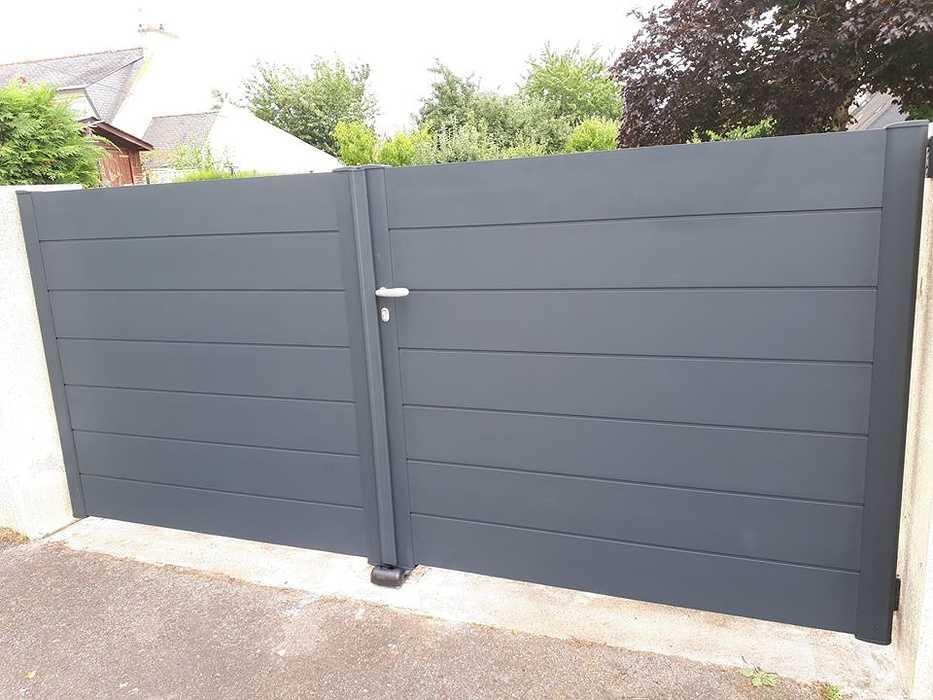 Installation d''un portail en aluminium - Hennebont (56) 0