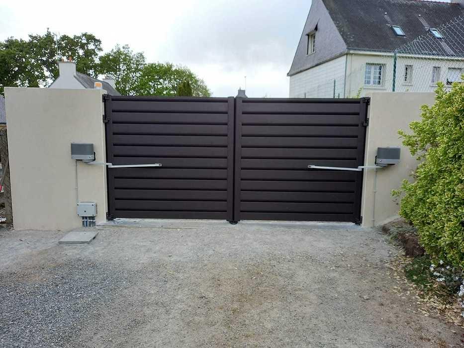 Pose portail aluminium - motorisation SOMFY - Caudan 304013ea-001a-42fd-9ad7-dc9acfb2ae2a